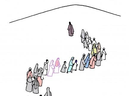 Mensen onderweg
